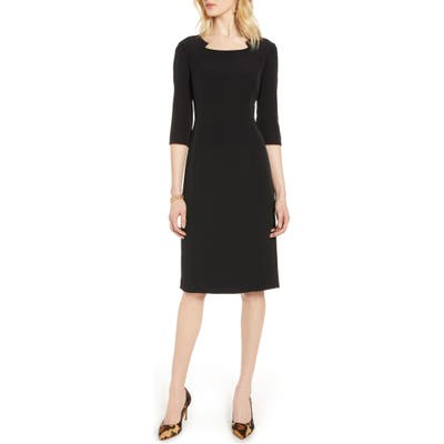 Halogen Stretch Crepe Sheath Dress, Black