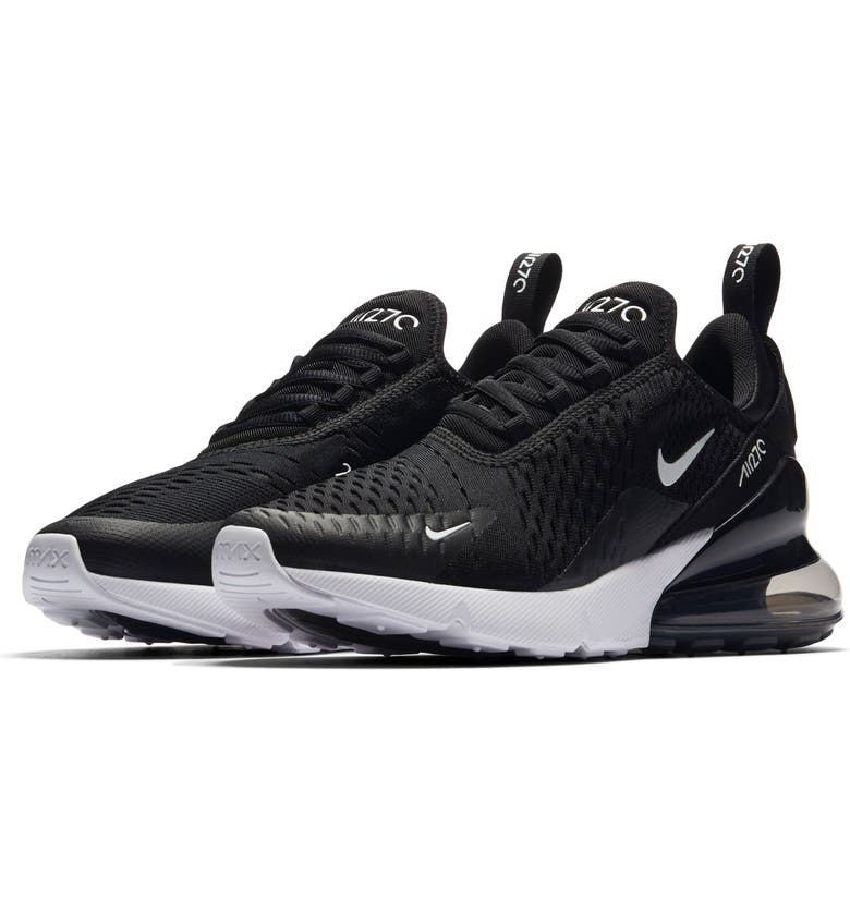 NIKE Air Max 270 Sneaker, Main, color, BLACK/ ANTHRACITE/ WHITE