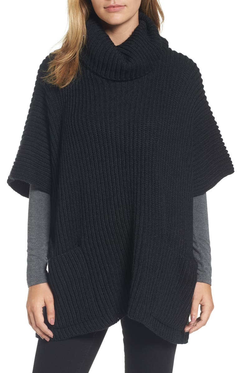 STEVE MADDEN Cowl Neck Poncho, Main, color, 002