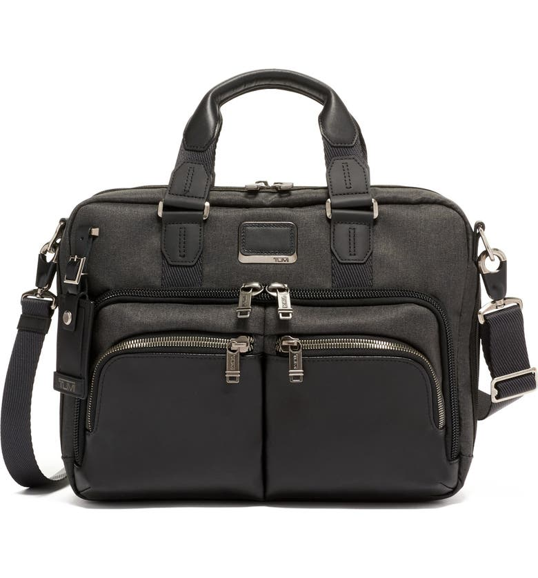 TUMI Alpha Bravo - Albany Slim Commuter Briefcase, Main, color, GRAPHITE