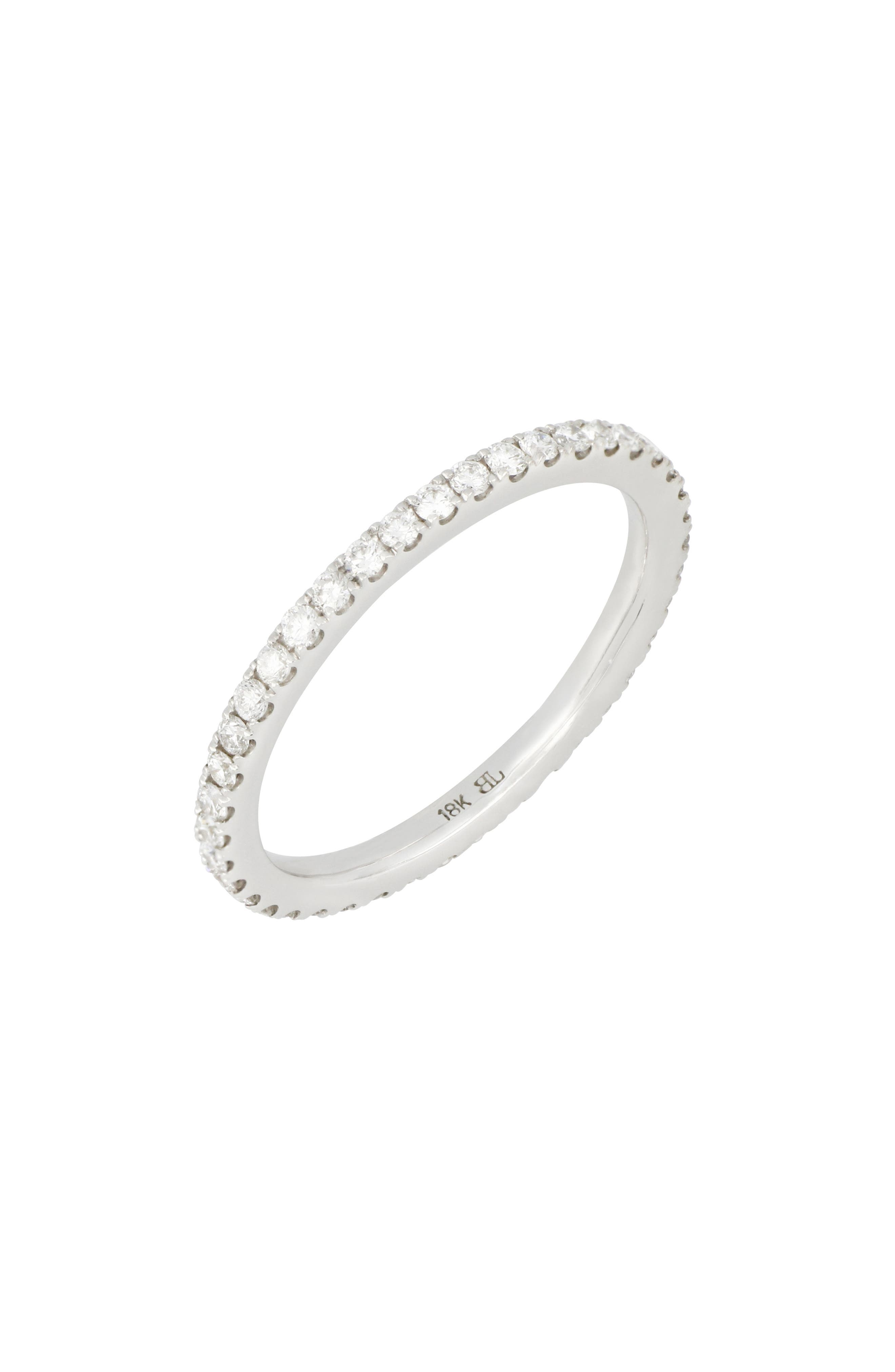 A timeless symbol of a love that lasts forever, this handcrafted eternity band features 42 round-cut diamonds set in gleaming 18-karat gold. Style Name: Bony Levy Diamond Eternity Band Ring (Nordstrom Exclusive). Style Number: 5795448. Available in stores.
