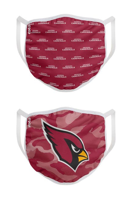 Image of FOCO NFL Arizona Cardinals Clutch Printed Face Cover - Pack of 2