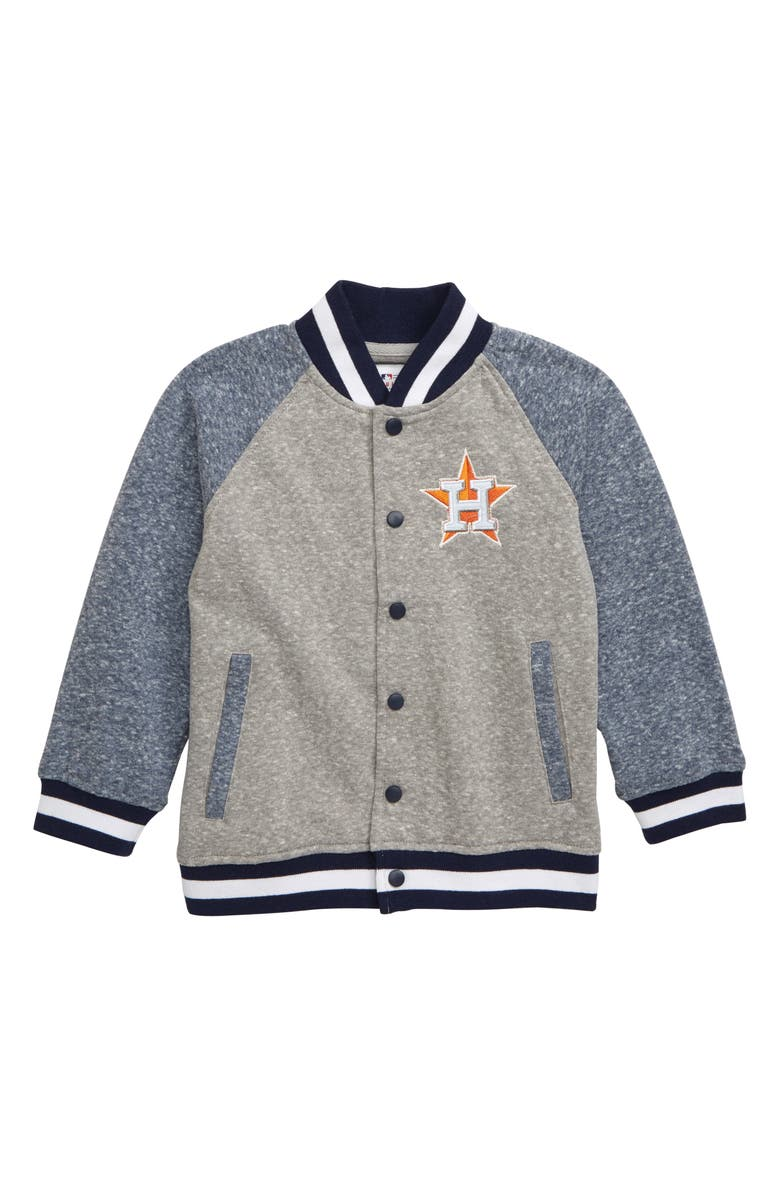 MAJESTIC MLB Houston Astros Pride Fleece Bomber Jacket, Main, color, NAVY