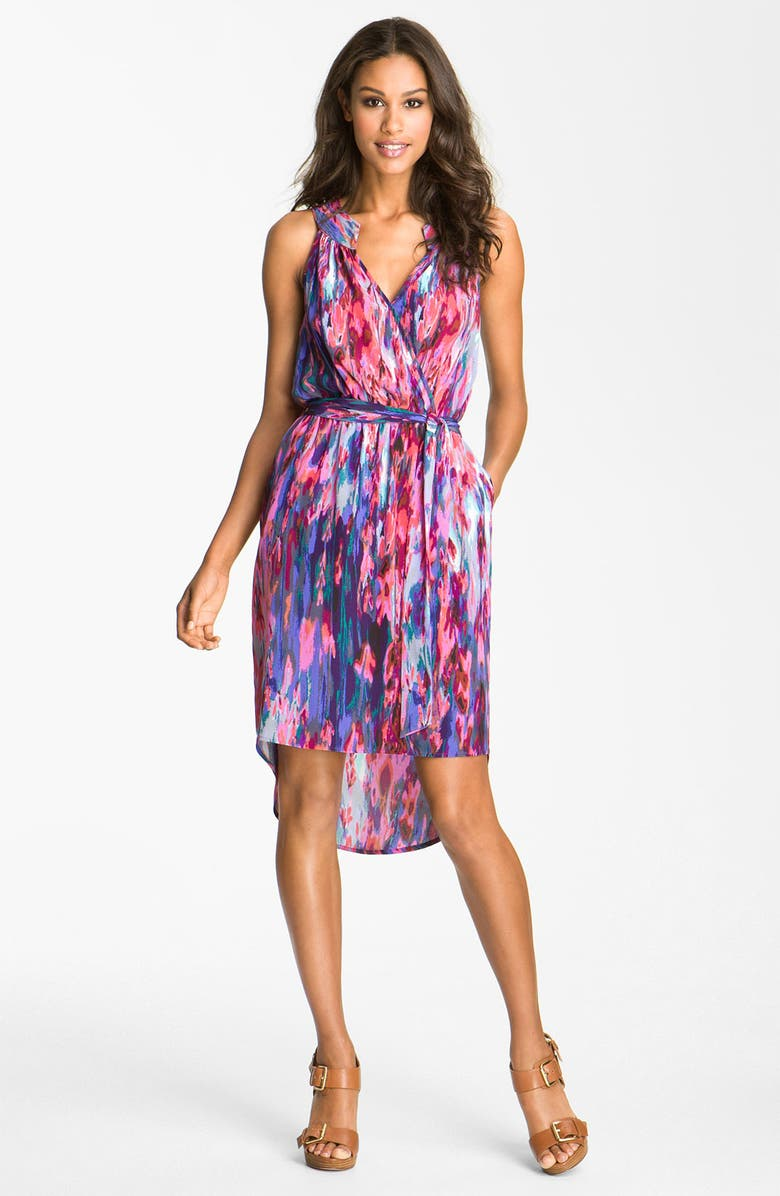 PRESLEY SKYE 'Parker' Print Silk Dress, Main, color, 682
