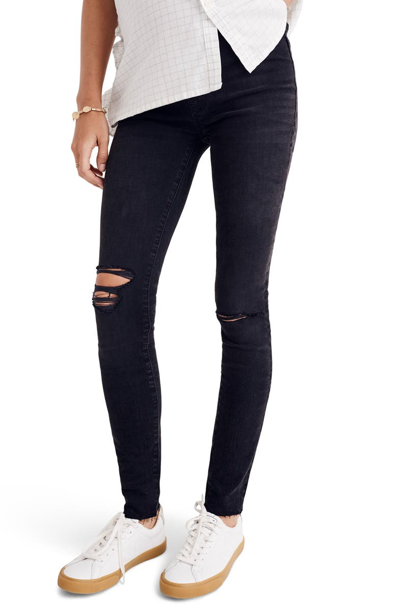 MADEWELL Maternity Skinny Jeans, Main, color, BLACK SEA