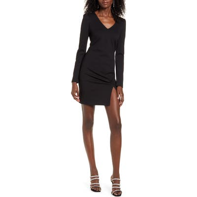 Leith Ponte Minidress, Black