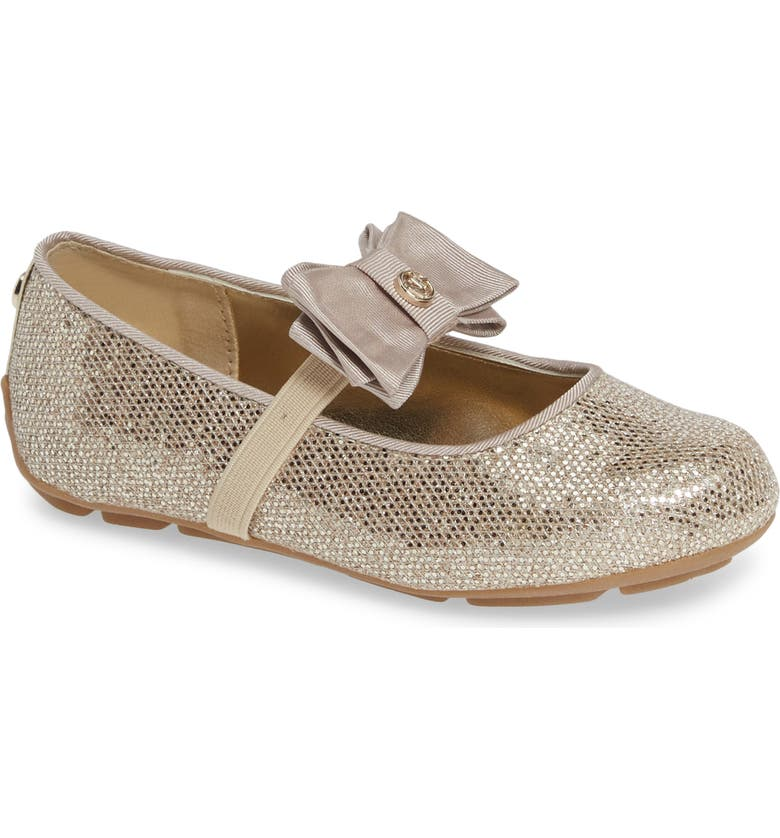 MICHAEL MICHAEL KORS Rover Day Sparkle Ballet Flat, Main, color, SAND