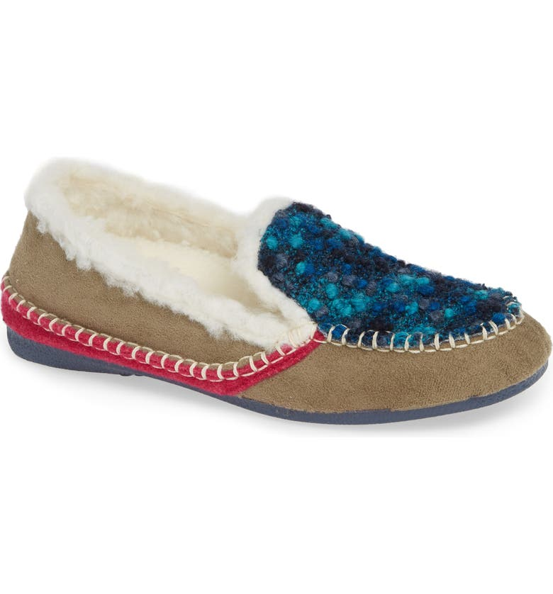 CLOUD Justica Wool Lined Slipper, Main, color, TAUPE WOOL