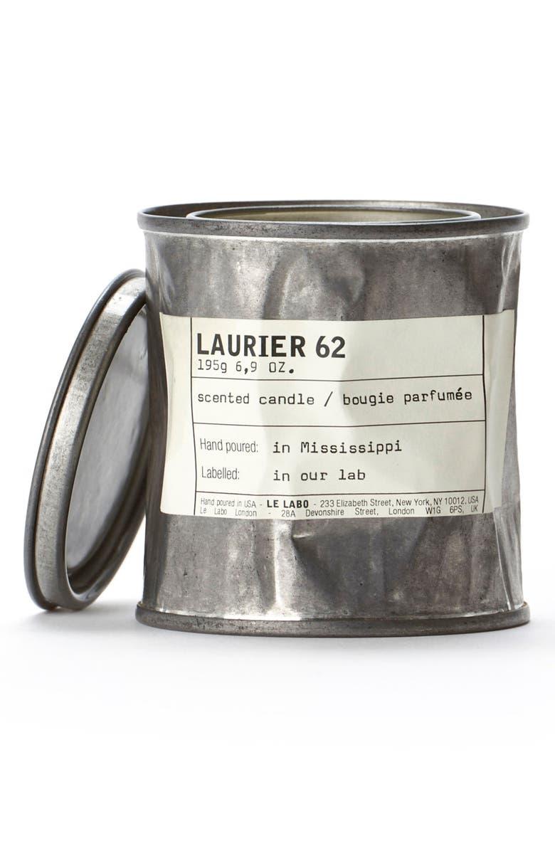 LE LABO 'Laurier 62' Vintage Candle Tin, Main, color, NO COLOR