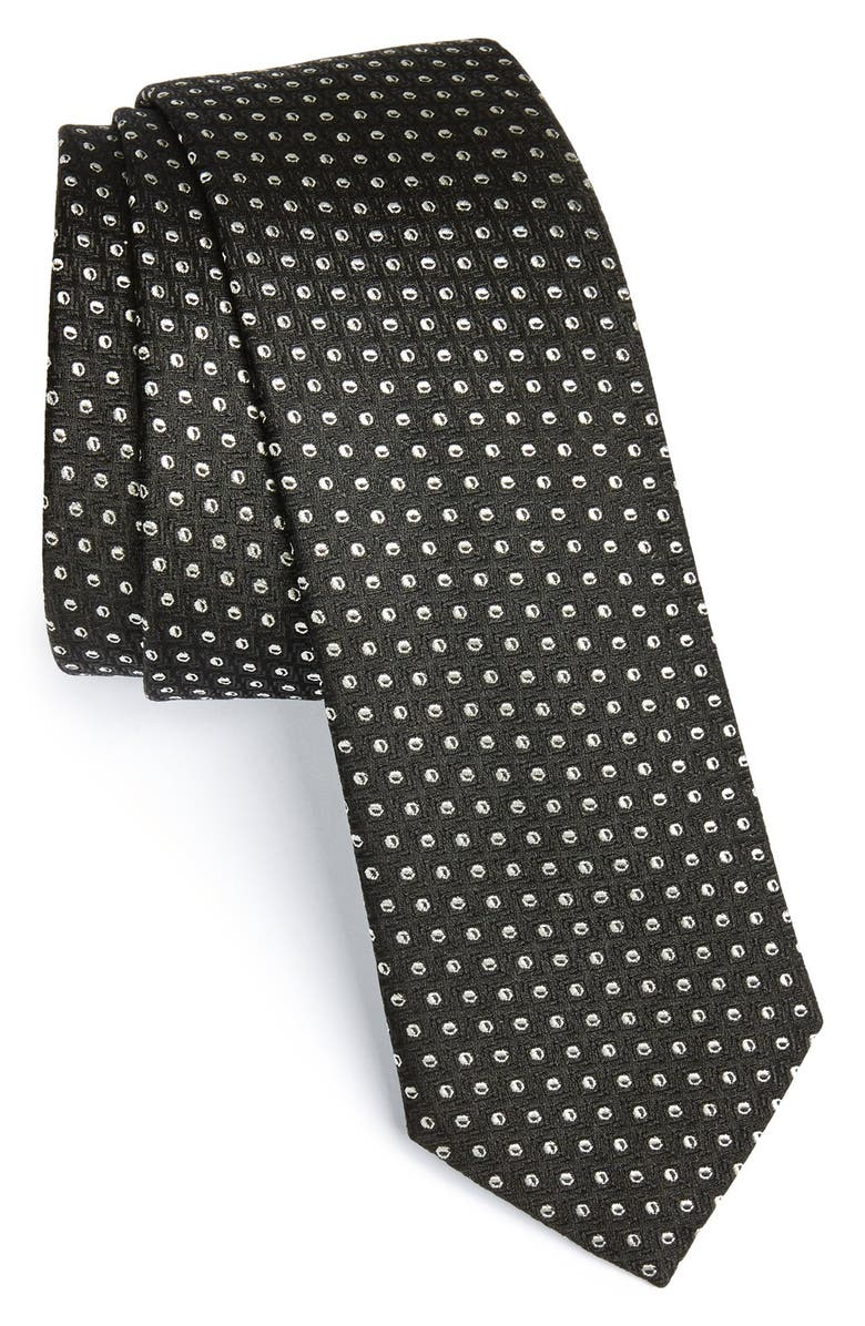 BOSS HUGO BOSS Woven Silk Tie, Main, color, 001