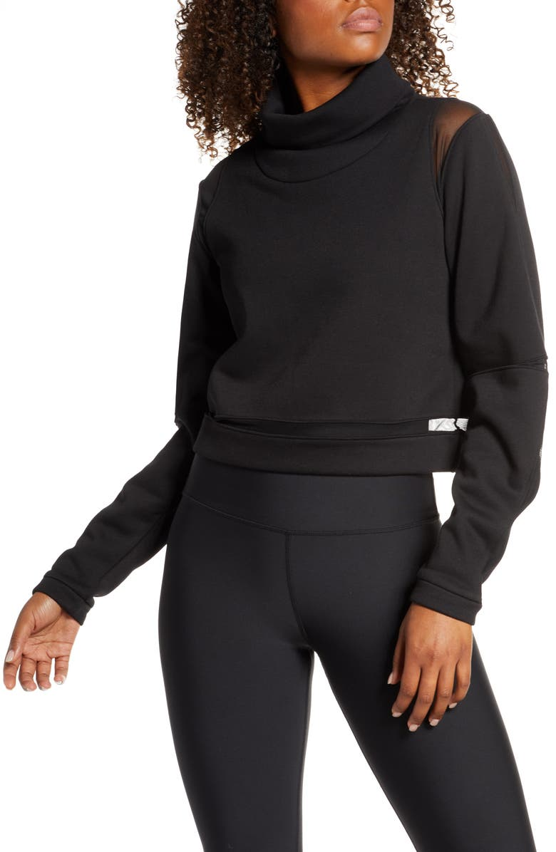 ALO Advanced Funnel Neck Pullover, Main, color, 001