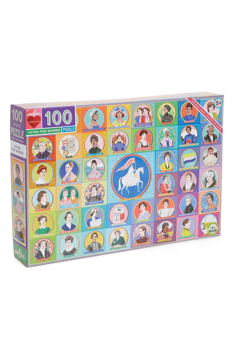 EEBOO Votes for Women 100-Piece Puzzle, Main, color, MULTI