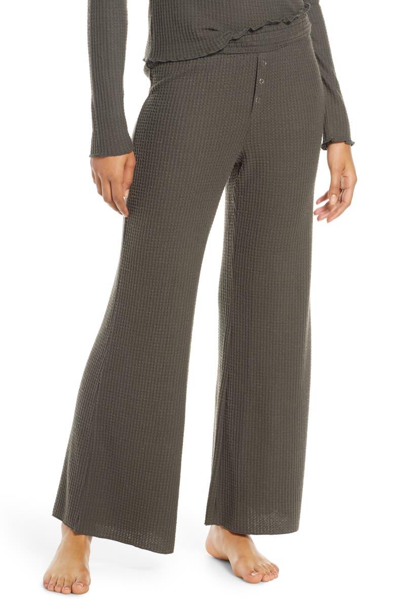BP. Smocked Thermal Lounge Pants, Main, color, GREY BELUGA