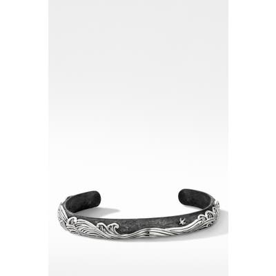 David Yurman Waves Cuff Bracelet With Forged Carbon