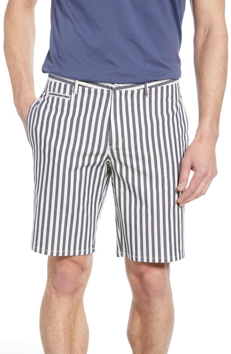 RODD & GUNN Lake Kiwi Custom Stripe Shorts, Main, color, NAVY
