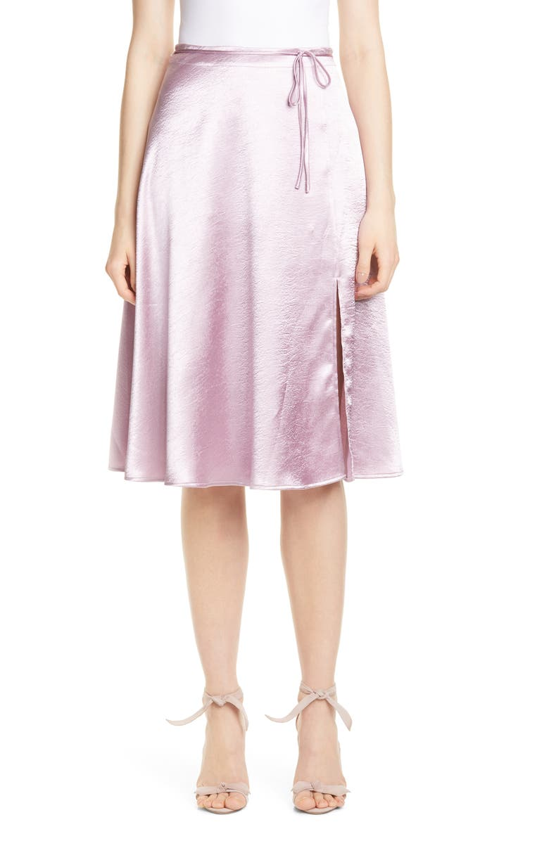 JOIE Alberic Satin Skirt, Main, color, FLEUR D-ISLE