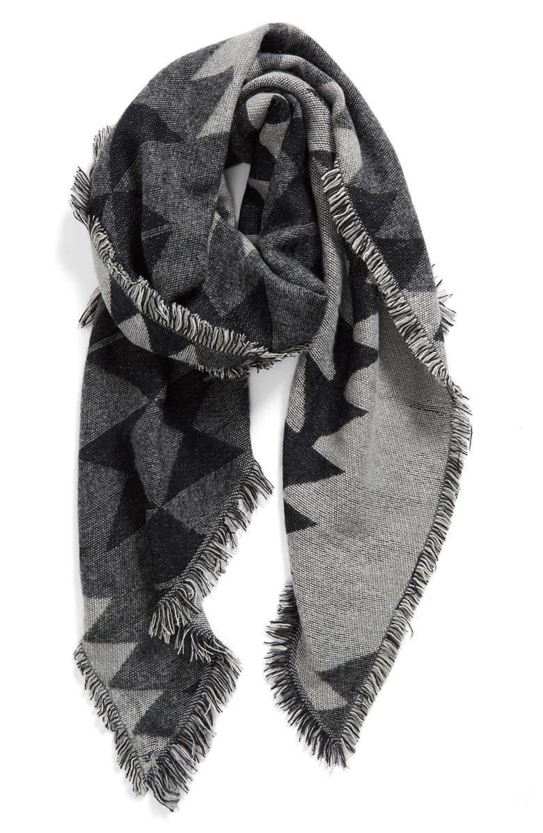 BP. Geometric Blanket Scarf, Main, color, 001