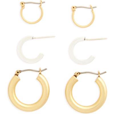 Madewell Set Of 3 Mini Hoop Earrings