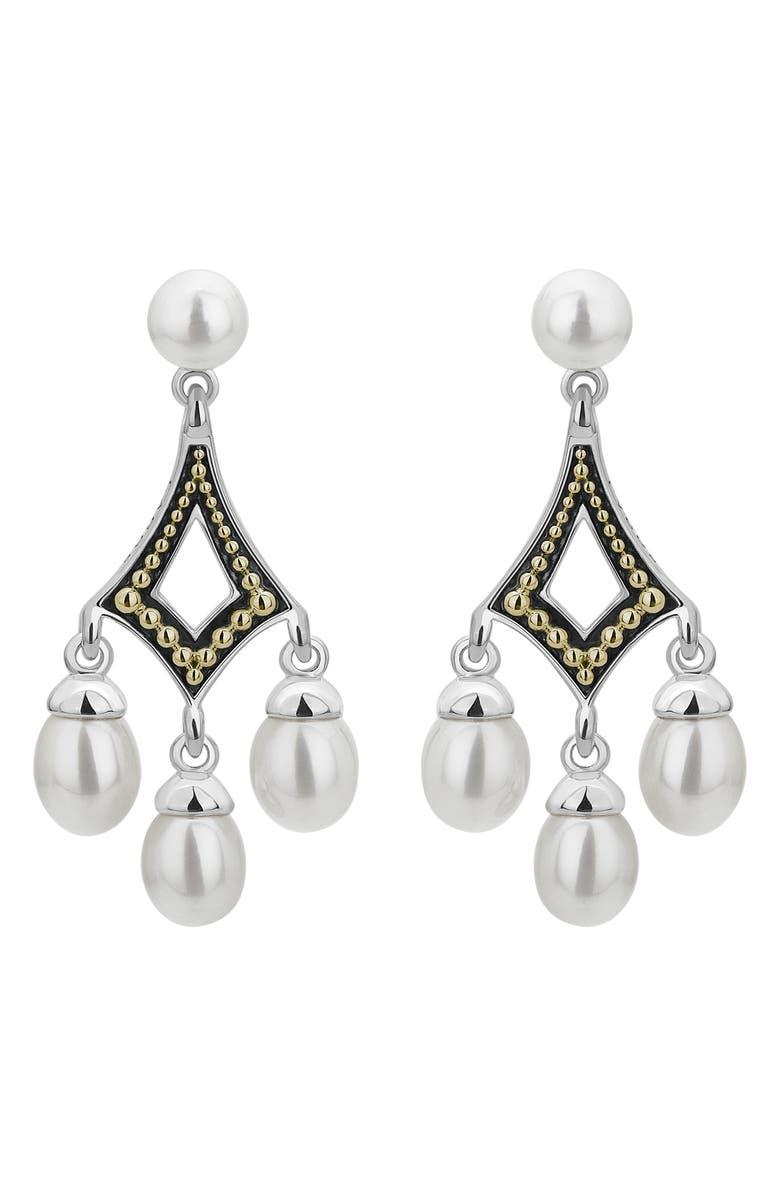 LAGOS Luna Pearl Kite Drop Earrings, Main, color, 040