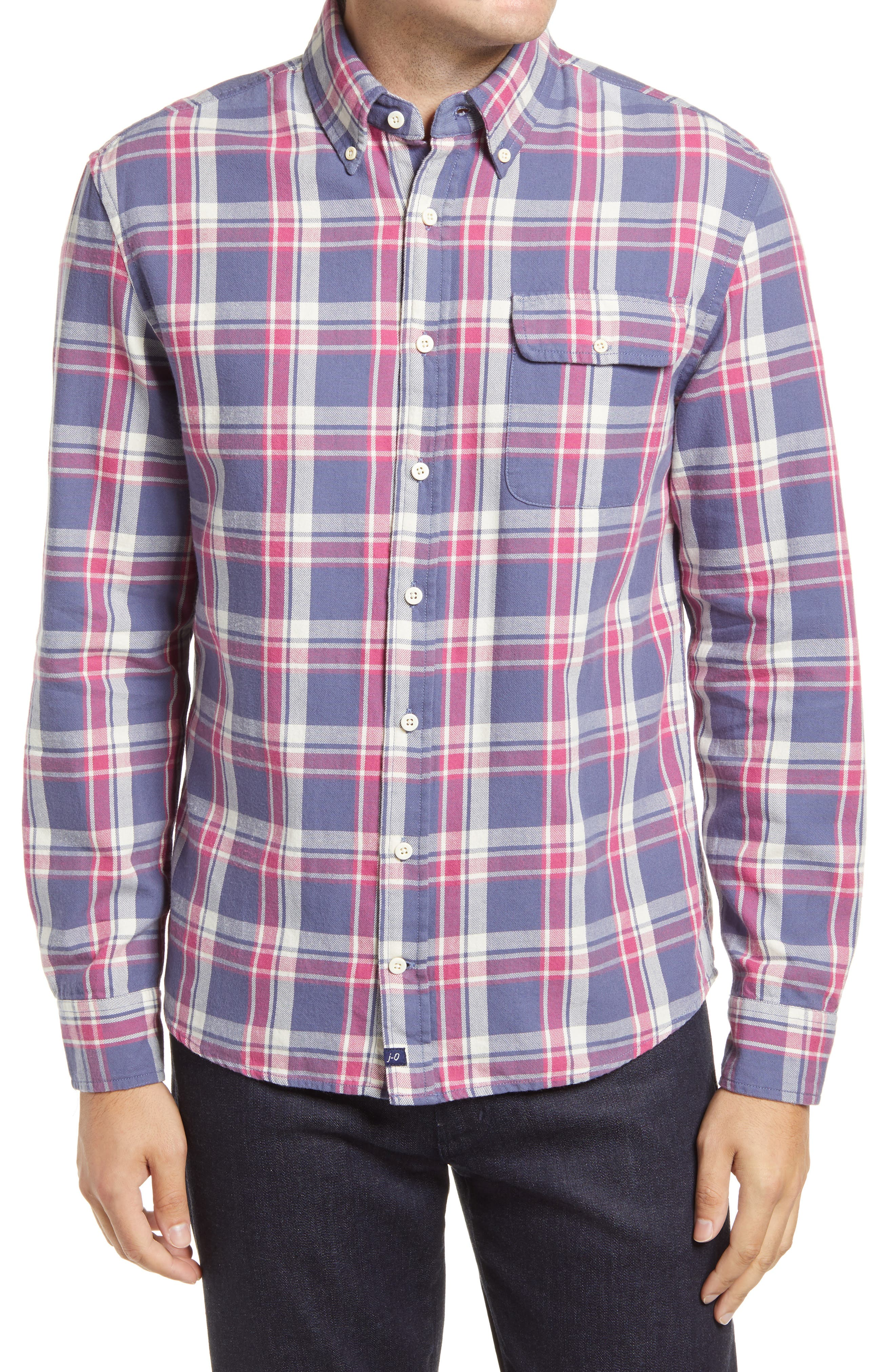 Hangin' Out Higgins Plaid Flannel Button-Down Shirt