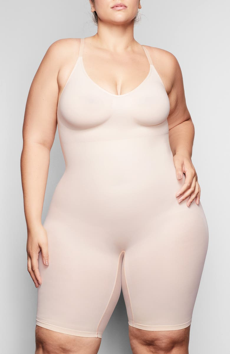 SKIMS Sculpting Seamless Mid-Thigh Bodysuit, Main, color, MICA