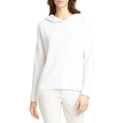 Eileen Fisher Hooded Boxy Organic Cotton Top