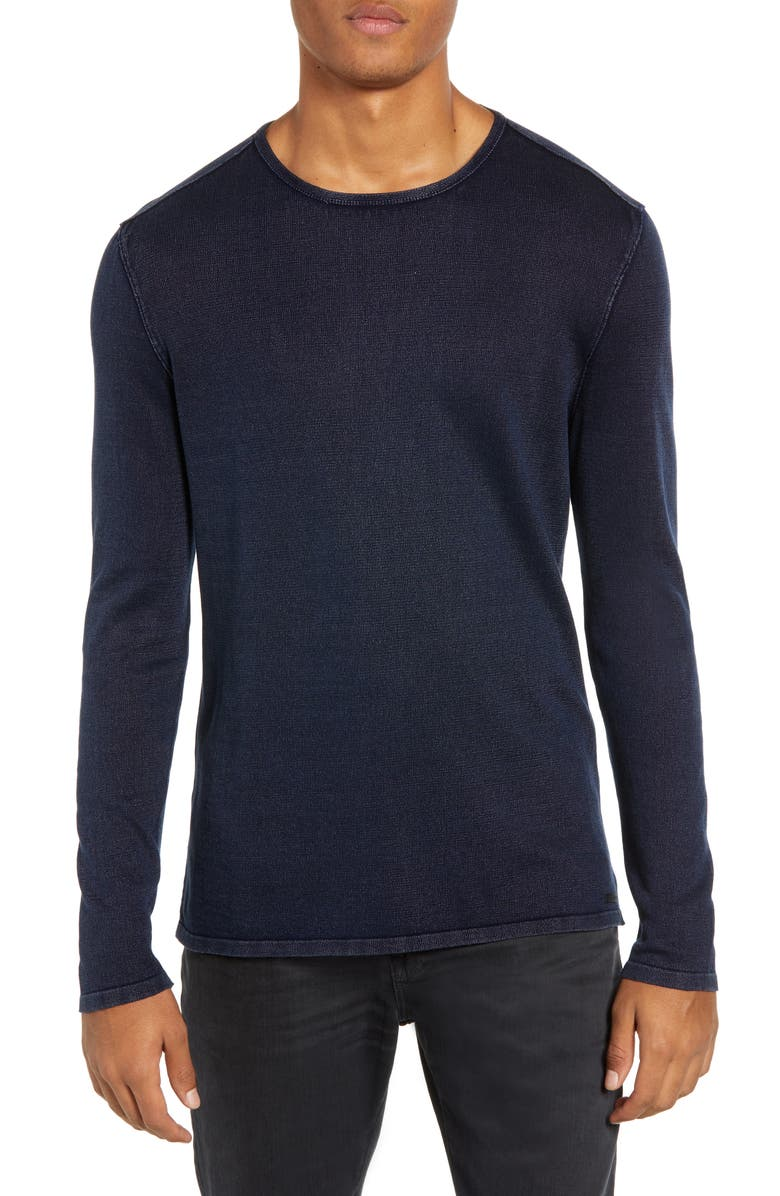 JOHN VARVATOS STAR USA Long Sleeve T-Shirt, Main, color, DEEP BLUE