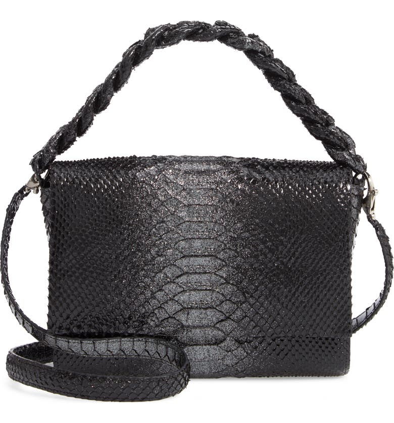 NANCY GONZALEZ Small Carrie Genuine Crocodile Metallic Clutch, Main, color, GLITTER PYTHON