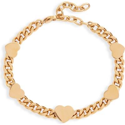 Ellie Vail Brie Heart Chain Bracelet