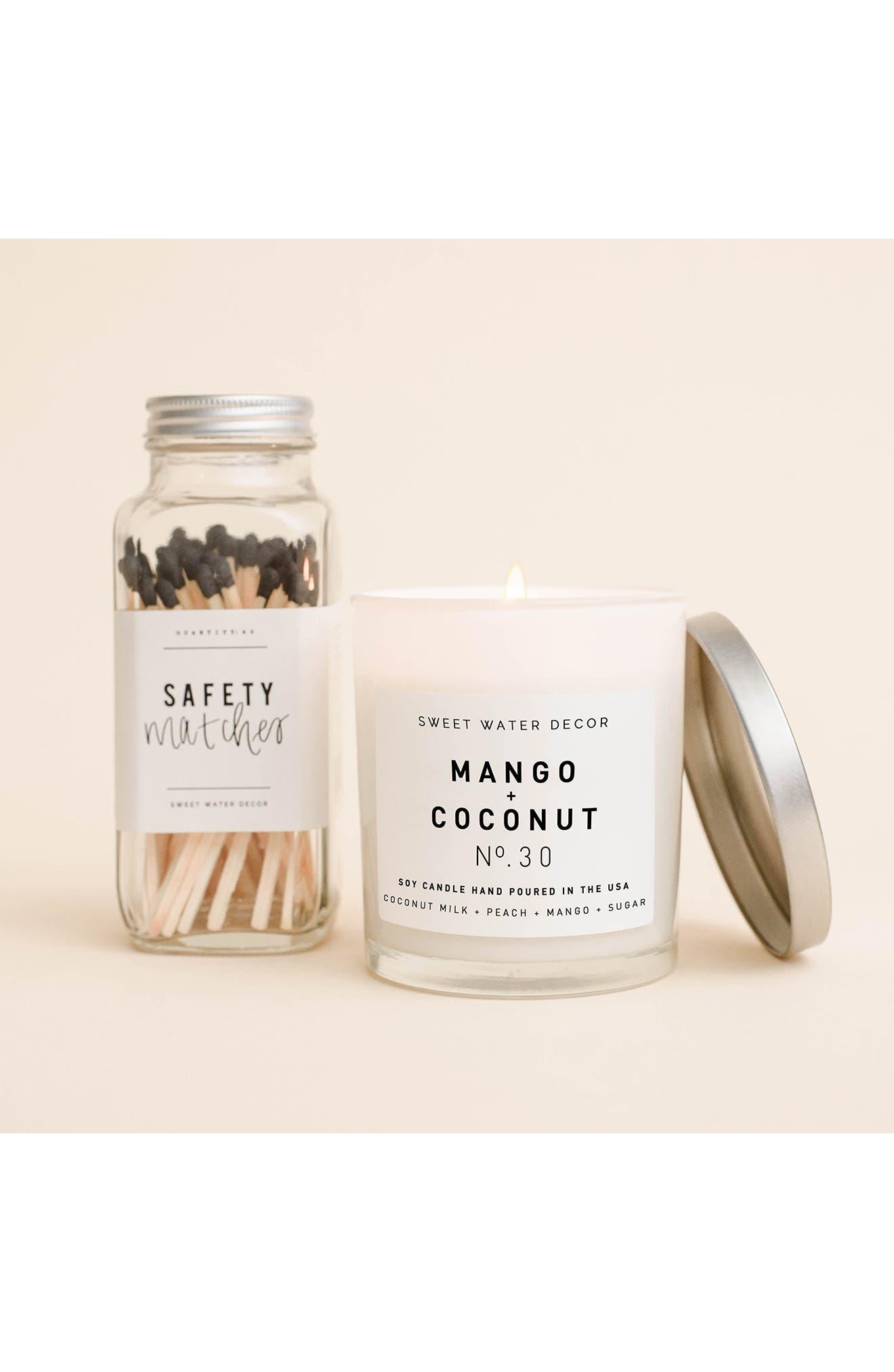 Image of SWEET WATER DECOR Mango & Coconut 11 oz. Soy Jar Candle - Set of 2