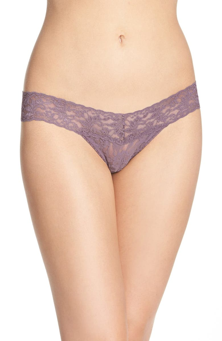 HANKY PANKY Signature Lace Low Rise Thong, Main, color, DUSK
