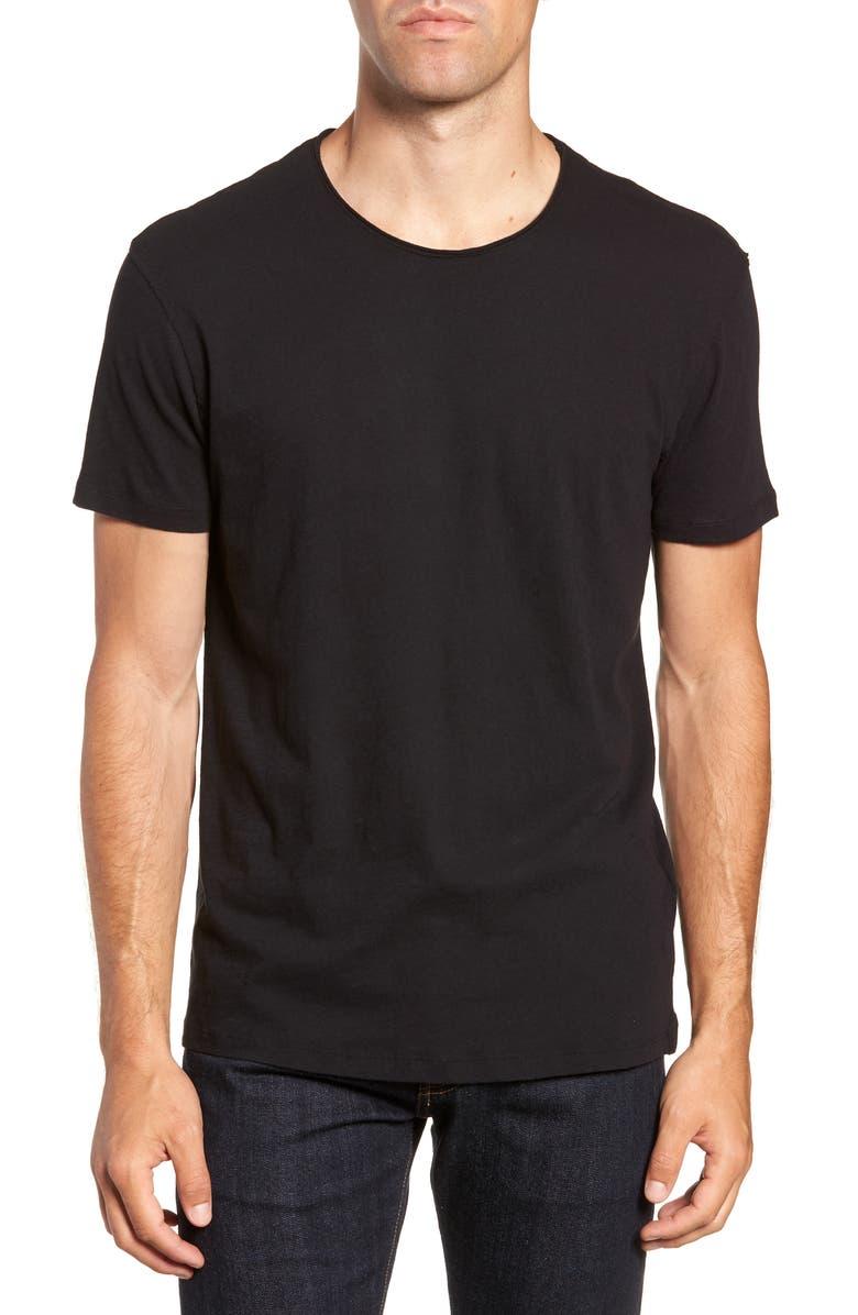 ALLSAINTS Slim Fit Crewneck T-Shirt, Main, color, JET BLACK