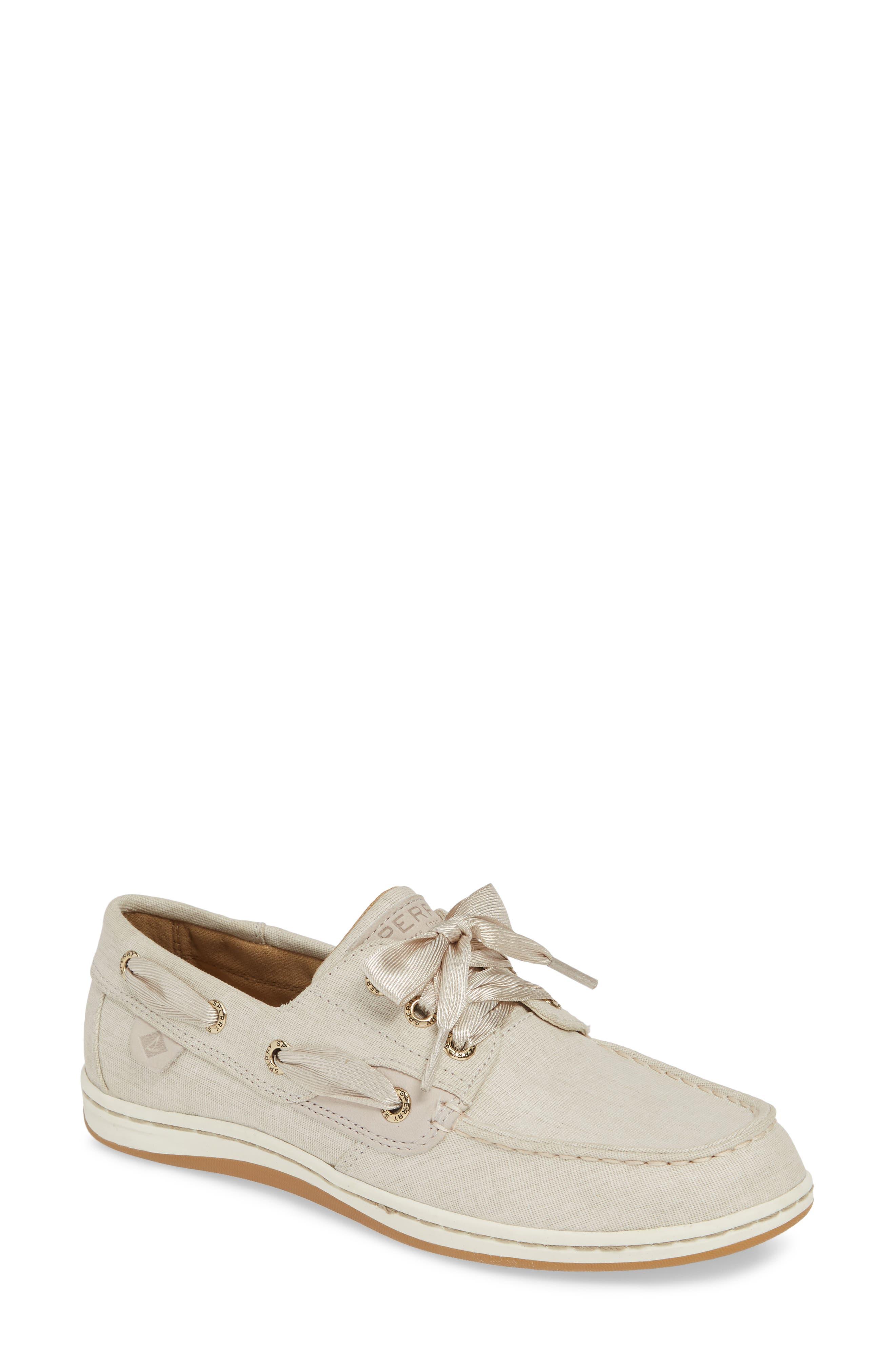 Sperry Songfish Linen Boat Shoe (Women