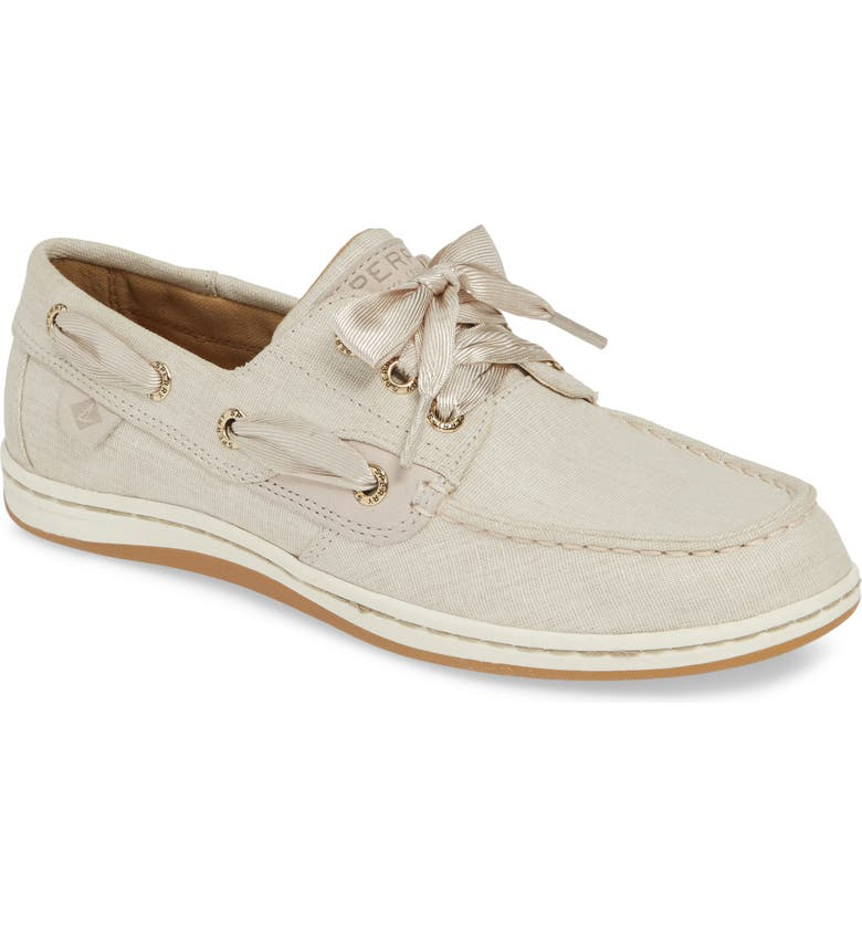 SPERRY Songfish Linen Boat Shoe, Main, color, 270