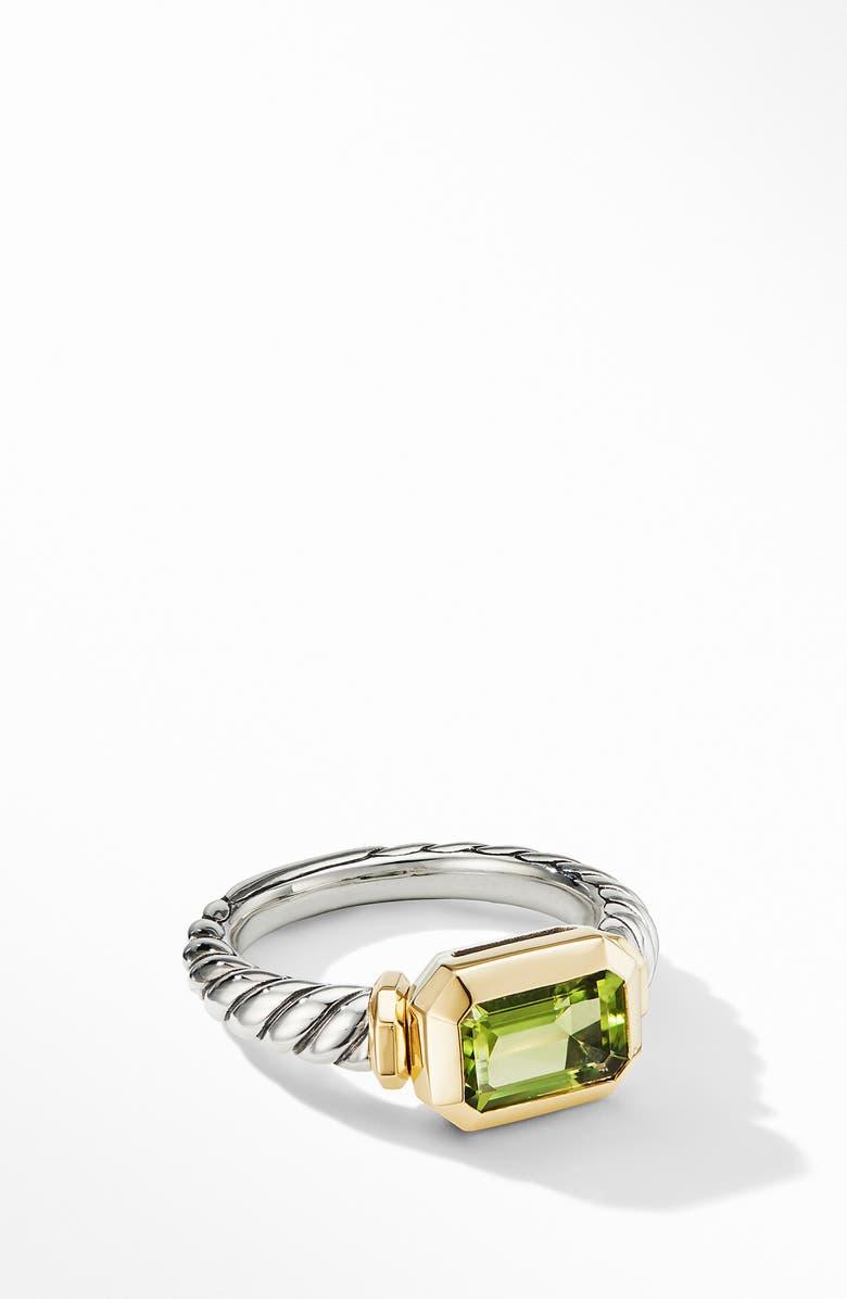 DAVID YURMAN Novella Ring with 18K Yellow Gold, Main, color, PERIDOT