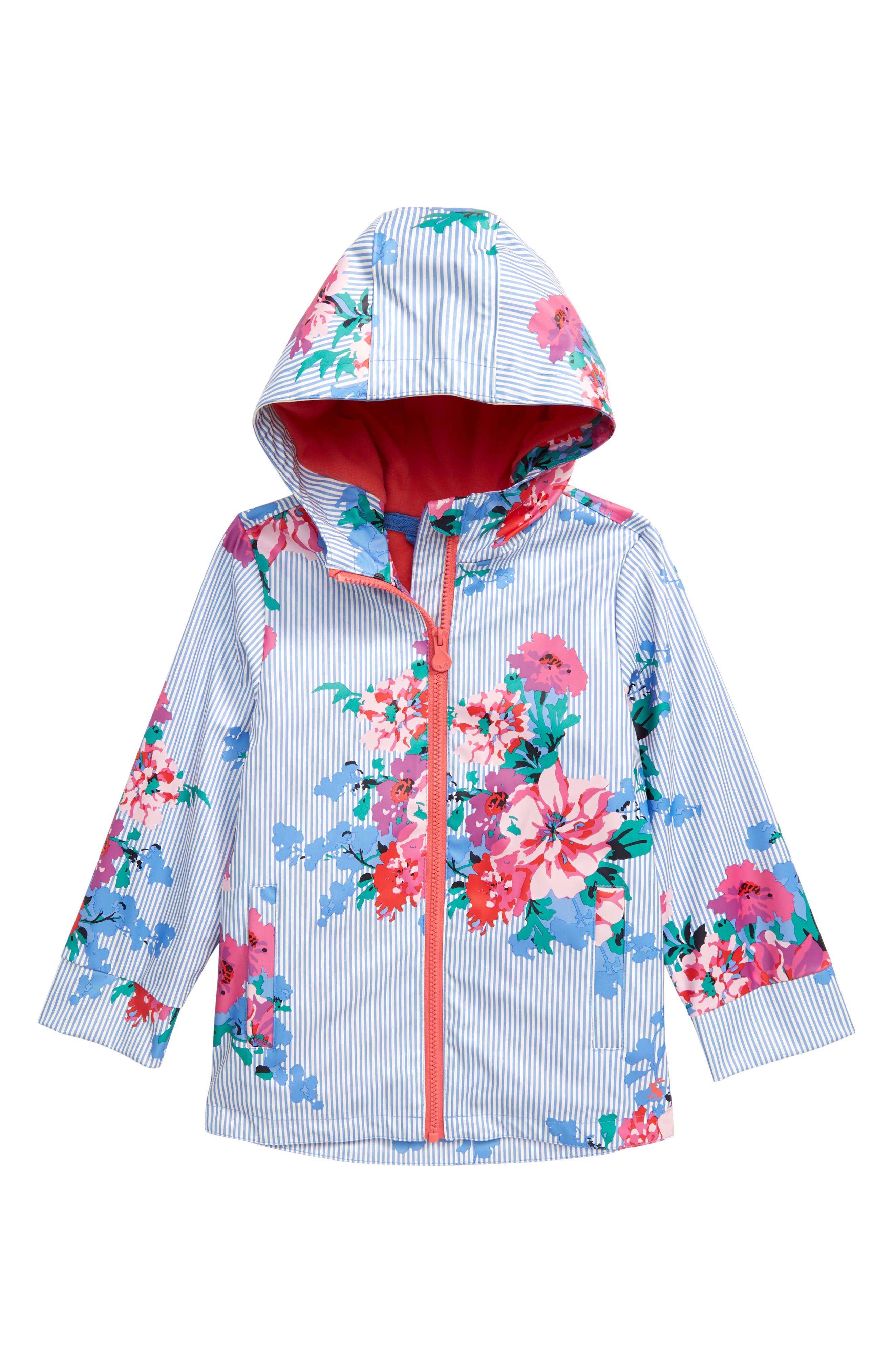 Toddler Girls Joules Raindance Waterproof Rain Jacket Size 2Y  Blue