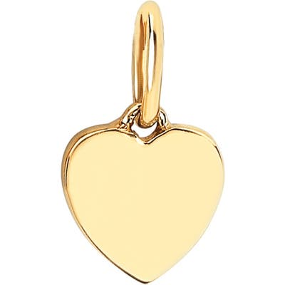 Ef Collection Gold Heart Pendant Charm