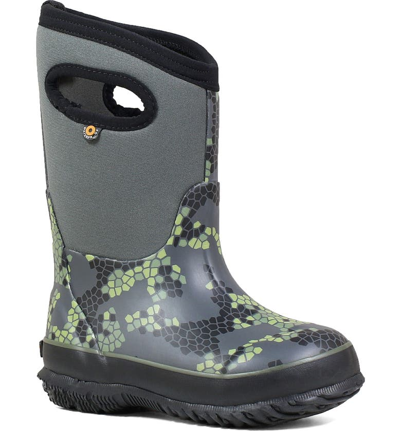 BOGS Classic Axel Insulated Waterproof Boot, Main, color, DARK GRAY MULTI