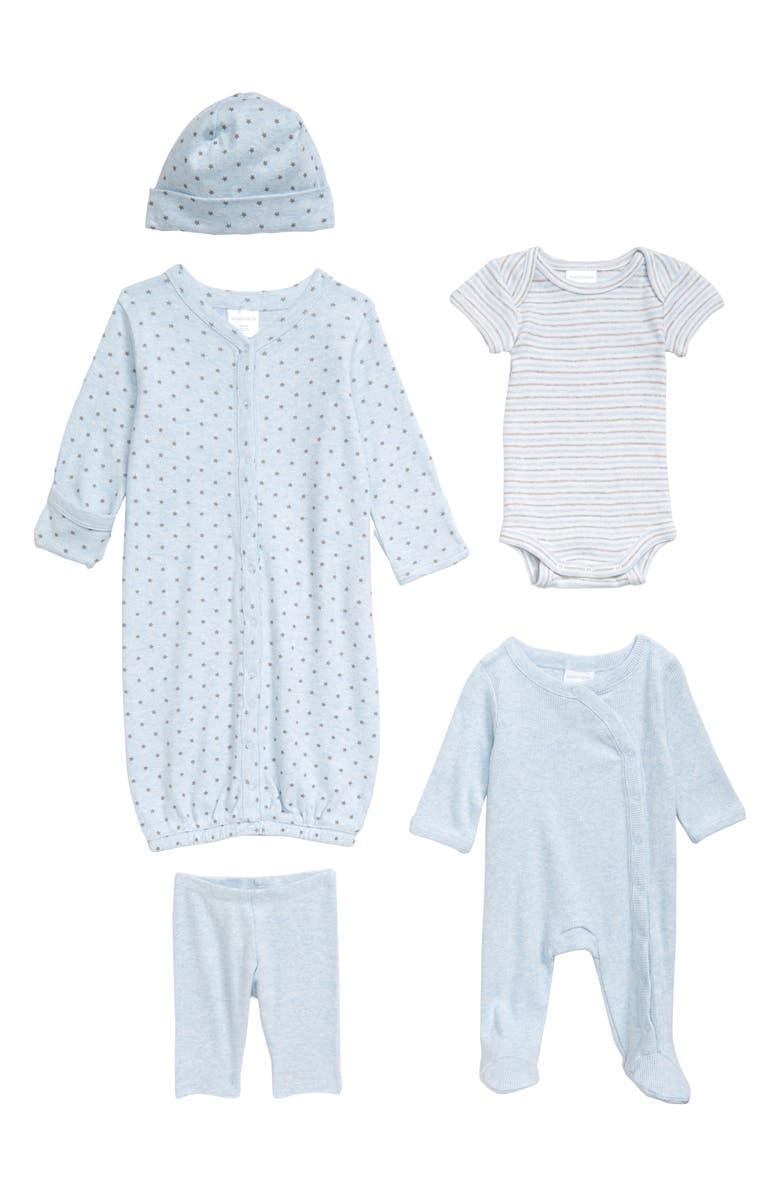 NORDSTROM BABY The Ultimate 5-Piece Set, Main, color, BLUE PRECIOUS HEATHER