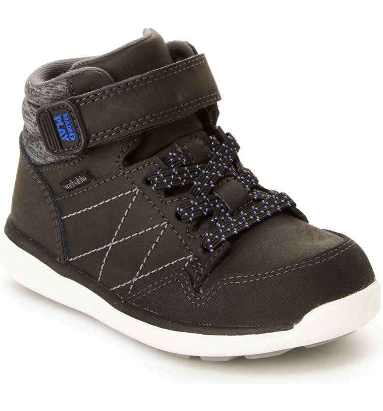 STRIDE RITE Saul Made2Play<sup>®</sup> Washable High Top Sneaker, Main, color, 001