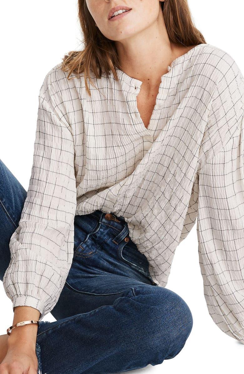 MADEWELL Meadow Shirt, Main, color, WINDOW PANE PLAID