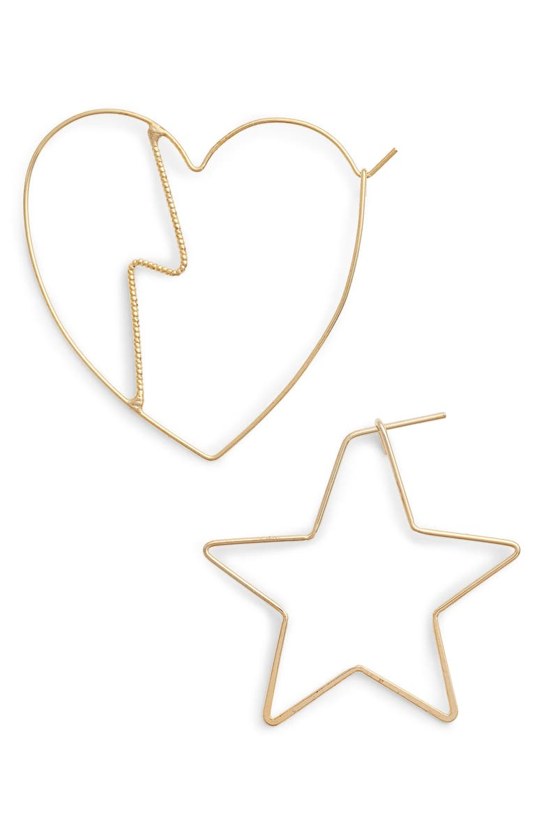 JULES SMITH Heartbreak Mismatch Hoop Earrings, Main, color, 710