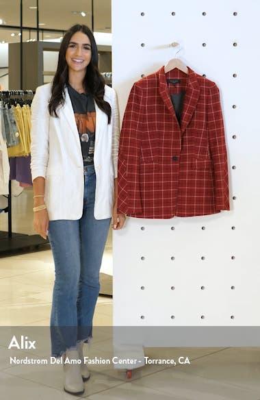 Hazel Check Wool Blend Blazer, sales video thumbnail