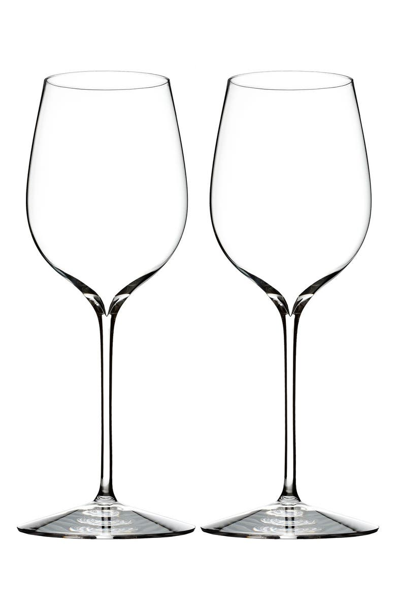 WATERFORD Elegance Set of 2 Fine Crystal Pinot Noir Glasses, Main, color, CLEAR