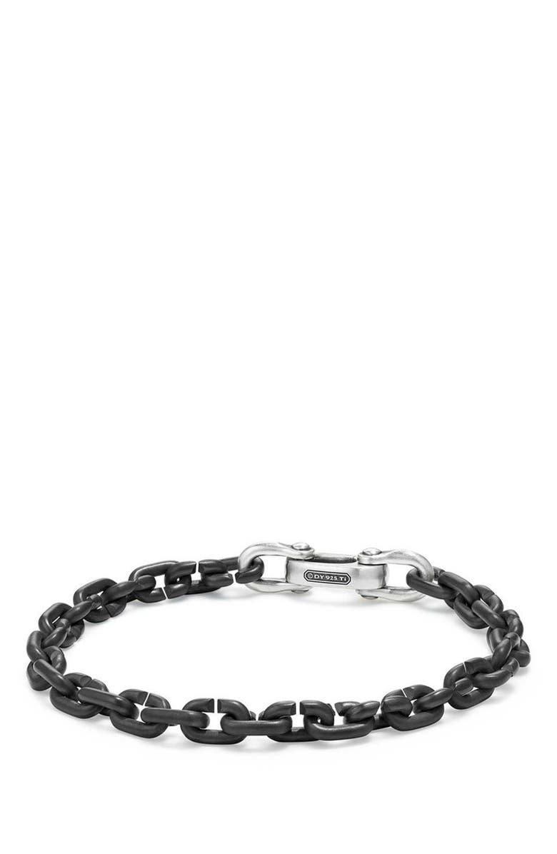 DAVID YURMAN Narrow Chain Link Bracelet, Main, color, TITANIUM