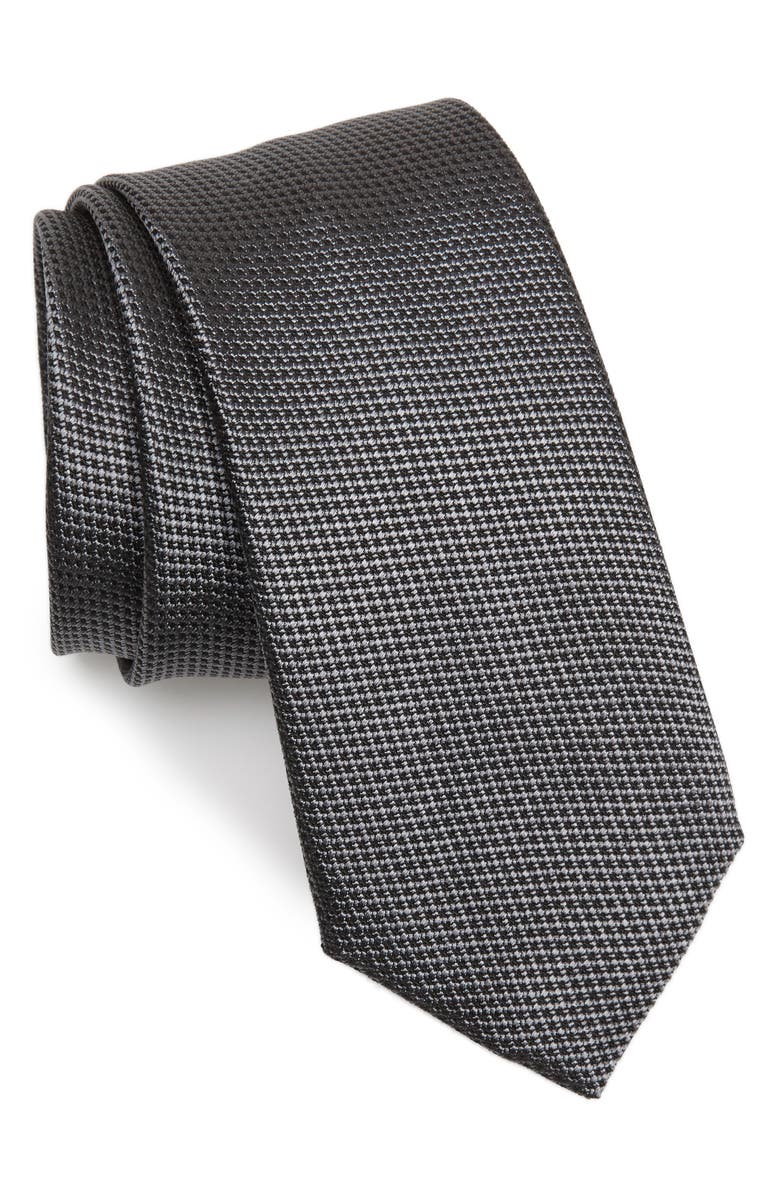 BOSS Solid Silk Tie, Main, color, 030