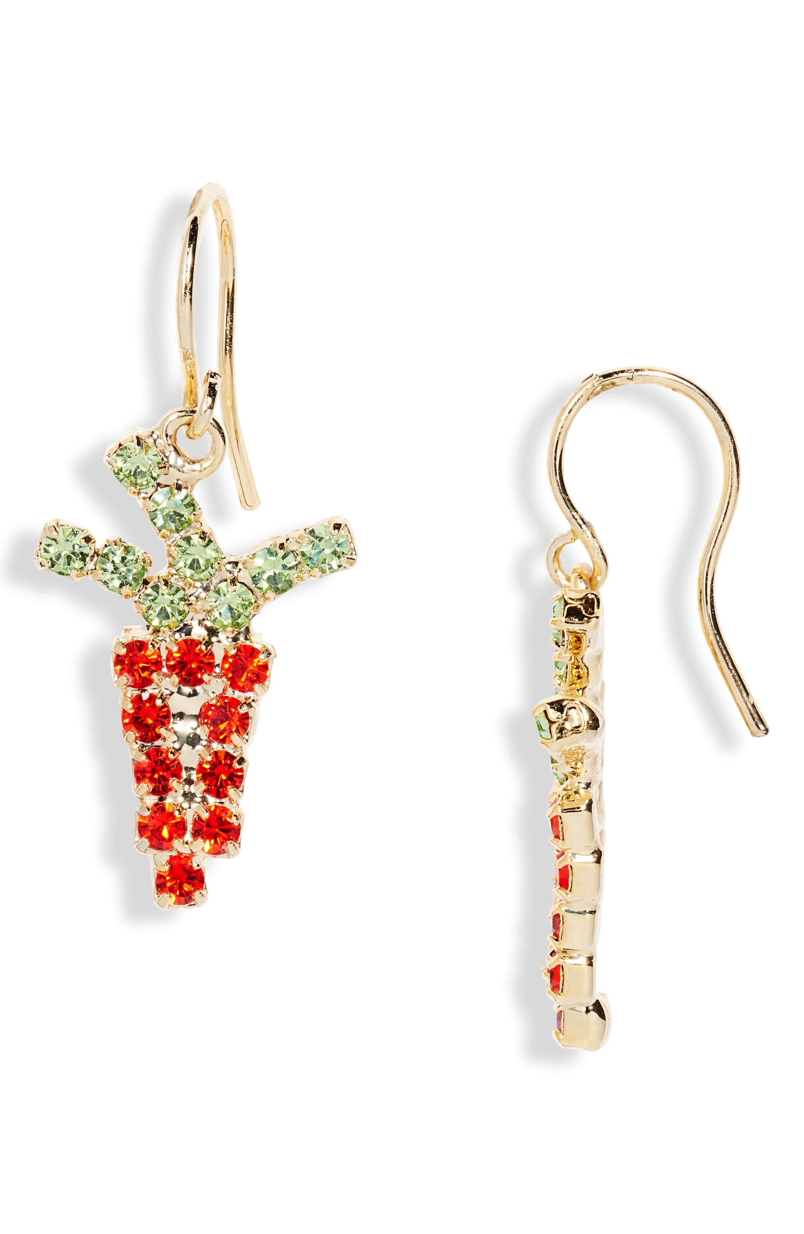 Dangl A Carrot Drop Earrings