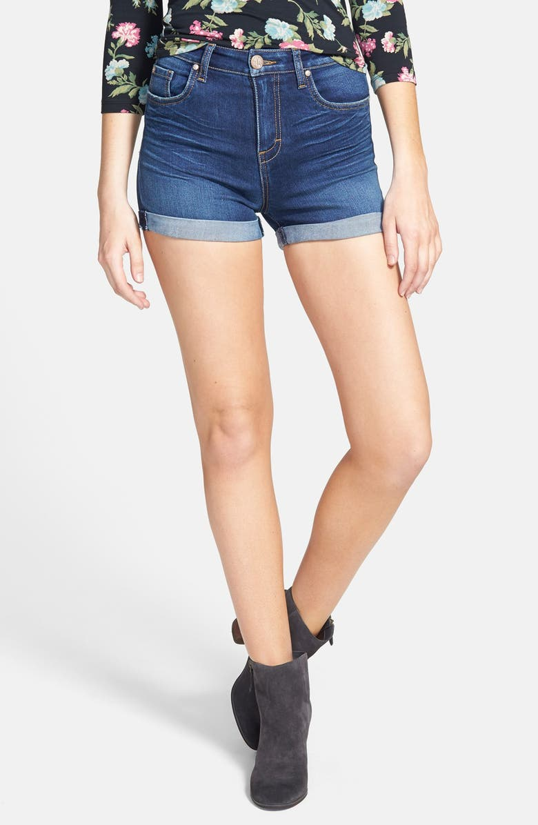 STS BLUE High Rise Rolled Denim Shorts, Main, color, 400