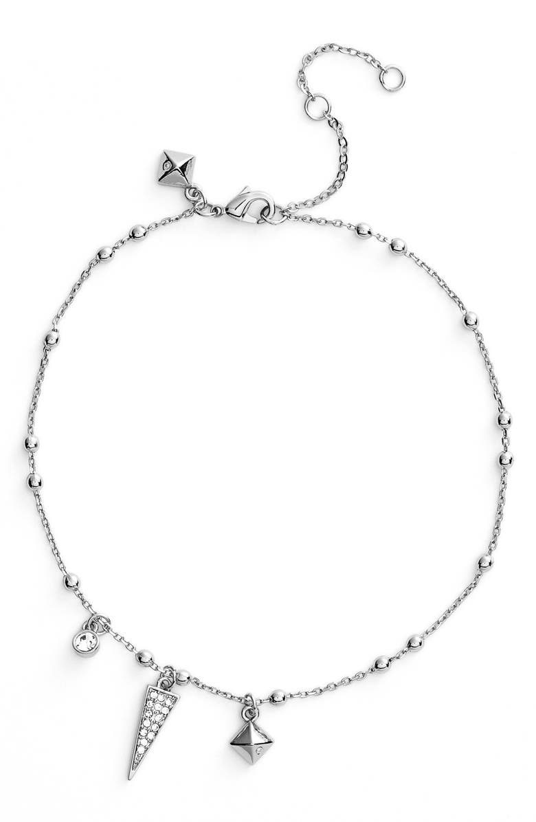 REBECCA MINKOFF Charm Anklet, Main, color, 040