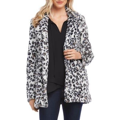 Karen Kane Faux Fur Jacket, White